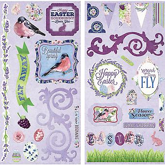 Secret Garden Self-Adhesive Chipboard-  19515383