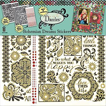Dazzles Stickers 2/Pkg-Bohemian Dreams DAZ2833