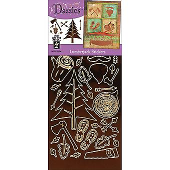 Dazzles Stickers-Lumber Jack-Brown DAZ-2554