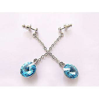 Luz azul pendientes de cristal OE 14.2