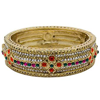 Butler  and  Wilson Multi Row Crystal Bangle with Square Flowers