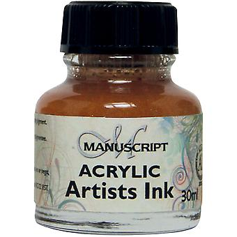 Manuscript Acrylic Artists Ink 30ml-Metallic Gold MDP0-49