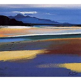 Pam Carter print - Rhum from Arisaig