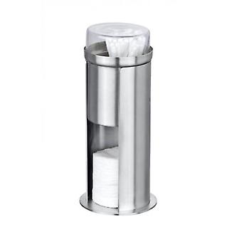 Wenko cotton pads dispenser firenze  stainless steel matt