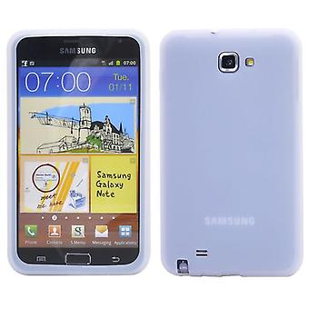 Siliconen cover voor de Samsung Galaxy Note 2 (wit)