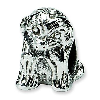 Argent sterling réflexions assis chiot Bead Charm