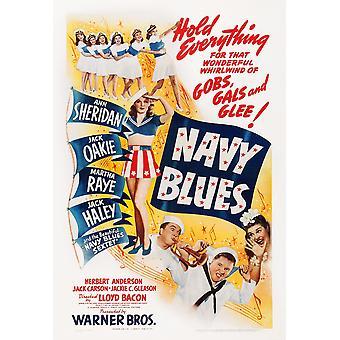 Navy Blues noi Poster da sinistra Ann Sheridan Jack Haley Jack Oakie Martha Raye su finestra Midget carta 1941 Movie Poster stampa di alta qualità