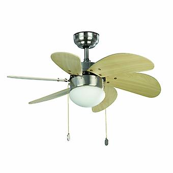 Faro ceiling fan Palao Nickel matt 76 cm / 30