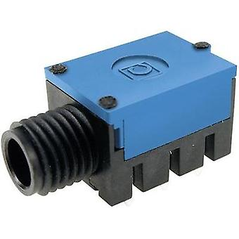 6.35 mm audio jack Socket, horizontal mount Number of pins: 3 Stereo Blue Cliff FC67810 1 pc(s)