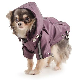 Small Bite Waterproof Jacket With Hood Damson Extra Small