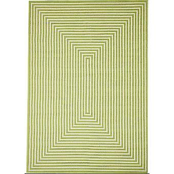 Moderne grønne geometrisk Flatweave tæppe - Floorit