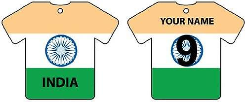 Personalised India Flag Jersey Car Air Freshener