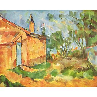 Paul Cezanne - Bright House Poster Print Giclee