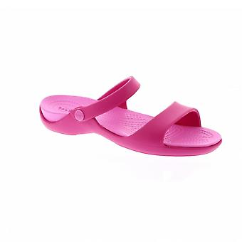 Crocs 204268 Cleo V - 6LR Candy Pink/Party Pink (Man-Made) Womens Sandals