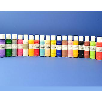 docrafts Artiste Acrylic Paint Bumper Collection of 18 Bottles