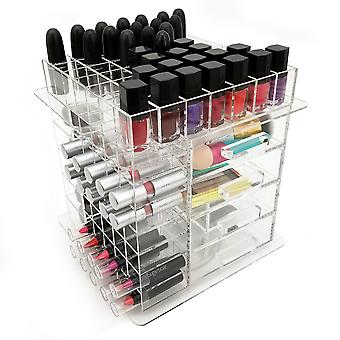 OnDisplay Elle Deluxe handgefertigte rotierenden Acryl Kosmetik/Make-up Organizer