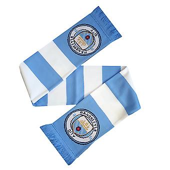 Manchester City FC officiel rayé Football Supporters Crest/Logo barre écharpe
