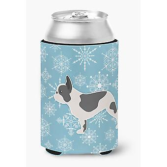 Winter Snowflake French Bulldog Can or Bottle Hugger