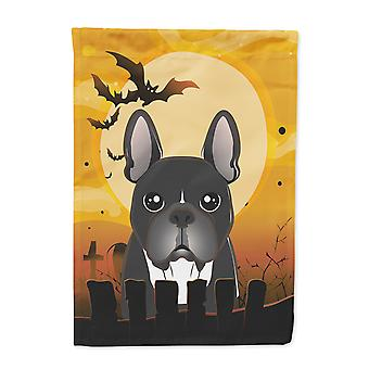 Carolines Schätze BB1785CHF Halloween französische Bulldogge Flagge Haus Leinwandgröße