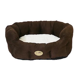 Rosewood 40 Winks Oval Sleeper Faux Suede Pet Bed