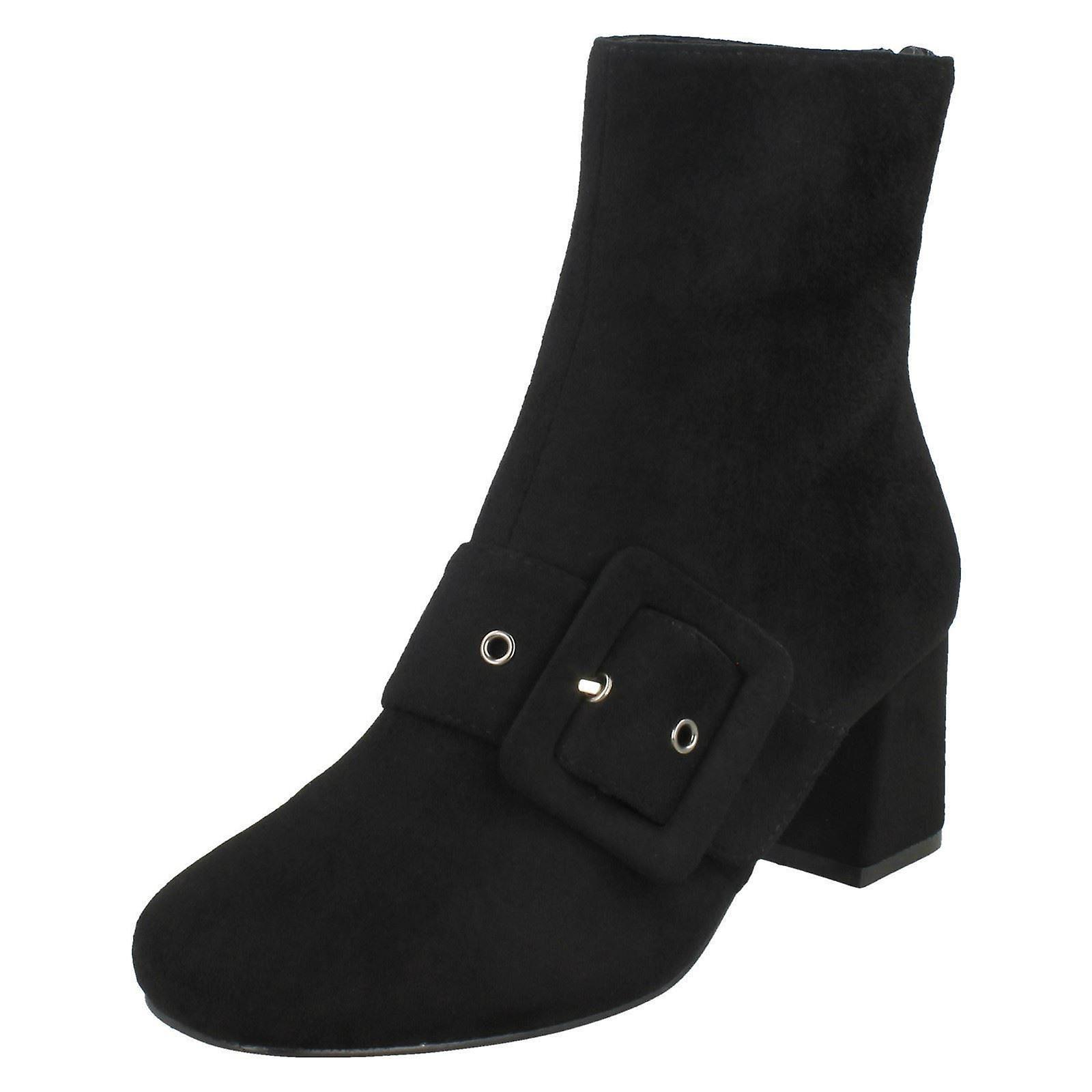 Ladies Boots On Ankle F50748 Spot Blocked Heel ZqZ0Apw