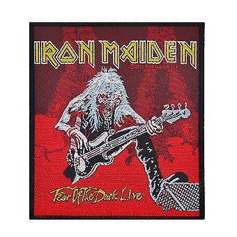 Iron Maiden paura di vivere - rosso scuro - tessuto Patch