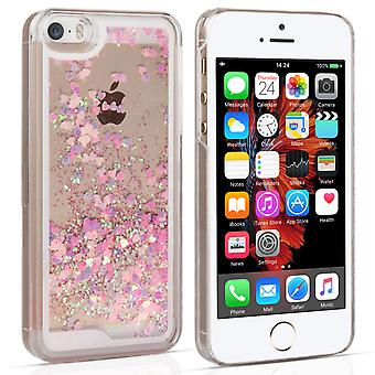 iPhone 5 5s i / SE Quicksand skali Hard Case - różowy