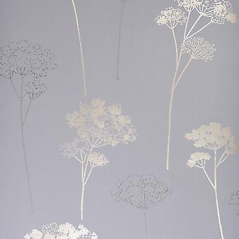 Dulux Black Wallpaper Roll - Easy Hang Meadowsweet Design - Colour: 31-237