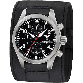 KHS mens watch Airleader Steel Chronograph KHS. AIRSC. LK