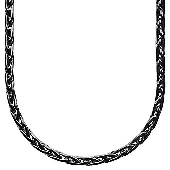 Iced out catena sottile BASKET bling - 4mm nero