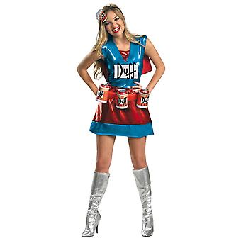 Duffwoman Duffman Deluxe Simpsons Dress Women Costume