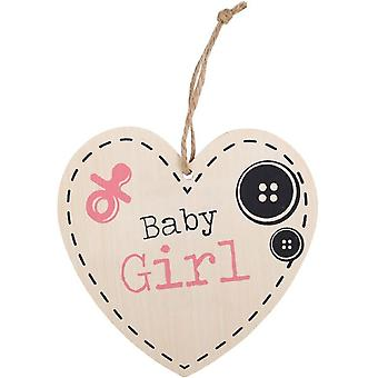 Something Different Baby Girl Hanging Heart Sign