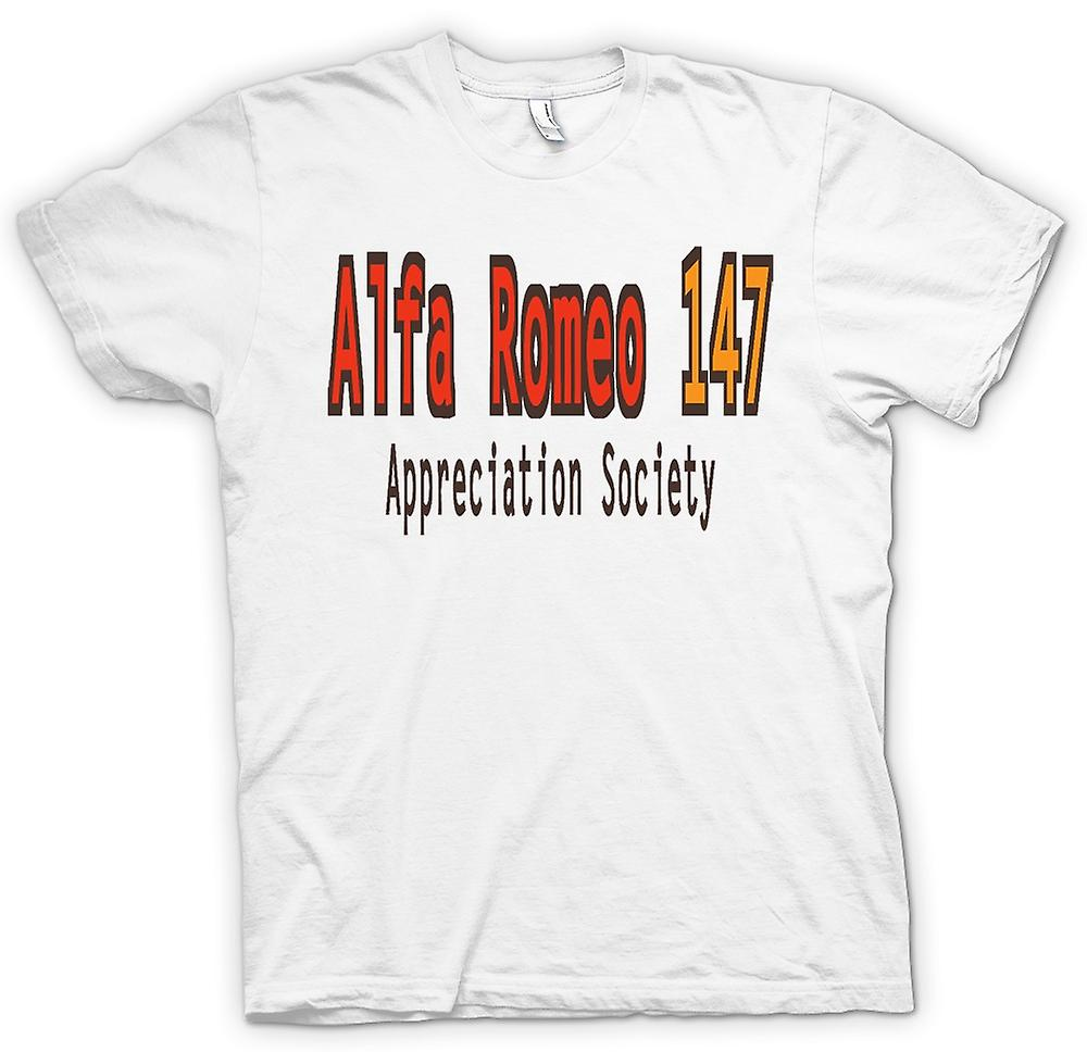 Mens T-shirt-Alfa Romeo 147 Appreciation Society