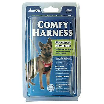 COMPANY OF ANIMALS COMFY Dog  HARNESS BLACK Large
