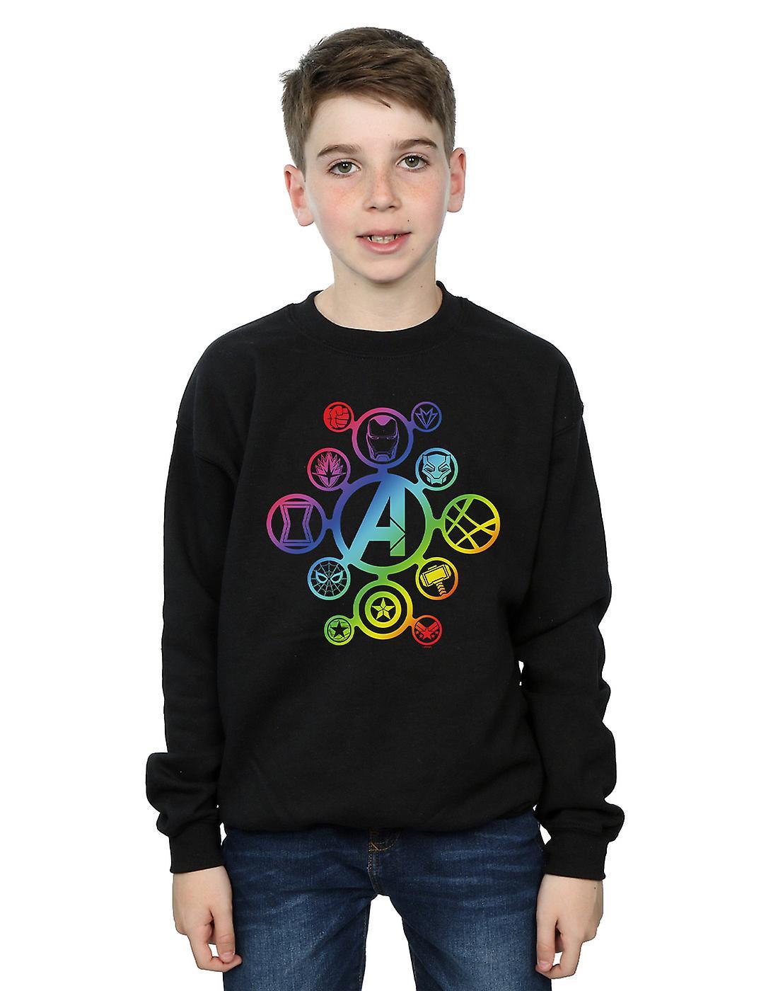 Wonder Boys Avengers Infinity War Rainbow pictogrammen Sweatshirt