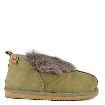 Shepherd of Sweden Jolina Olive Sheepskin Boot