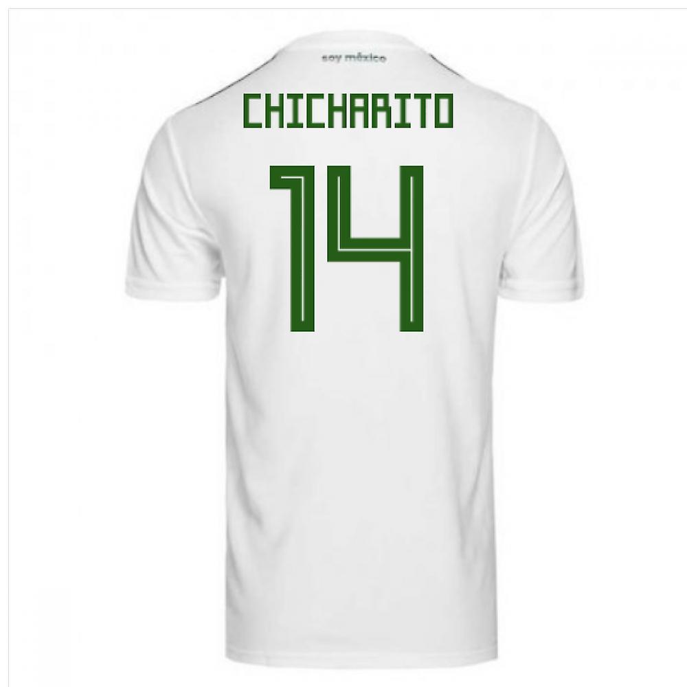 2018-2019 Mexico Away Adidas Football Shirt (Chicharito 14) - Kids