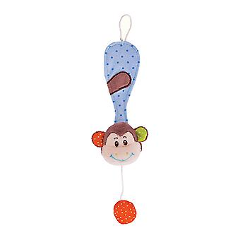 Bigjigs Toys Soft Plush Cheeky Monkey Dummy Chain Cot Pram Newborn Sensory