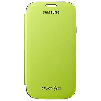 CEF-1G6FME original tampa flip caso, Galaxy S3 S3 LTE verde em massa