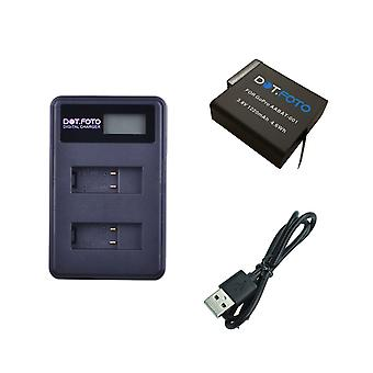Dot.Foto GoPro AABAT-001 Replacement Battery + LCD USB Charger