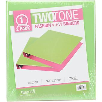 Fashion Color Two-Tone Round Ring View Binder 1