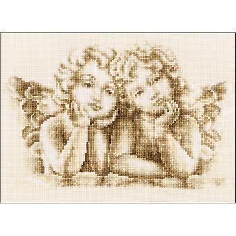 Dreaming Angels On Aida Counted Cross Stitch Kit-10