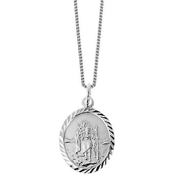 Orton West St Christopher pendiente - plata