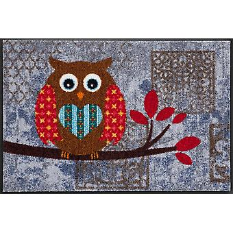 Salon lion doormat OWL Vintage Betty washable floor mat