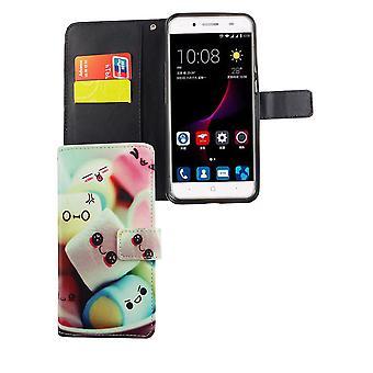 Borsa custodia mobile per cellulare ZTE blade A2 plus scrittura marshmallow