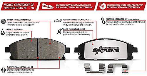 Power Stop Z36-1333 Front Z36 Truck and Tow Brake Pads