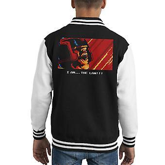 I Am The Law Retro Judge Dredd Kid's Varsity Jacket