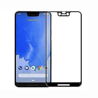 Für Google Pixel 3 XL 3D Premium 0,3 mm H9 Hart Glas Schwarz Folie Schutz Hülle Neu
