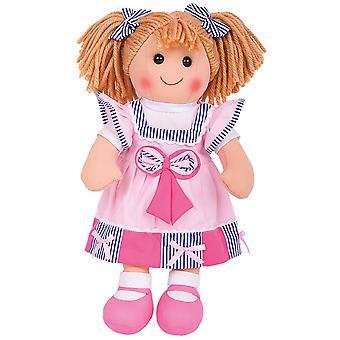 Bigjigs leksaker plysch Georgie (38cm) gosig Rag Doll leksak