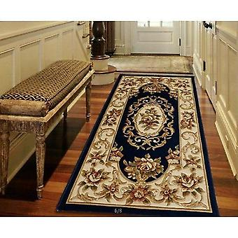 Blue Corridor Carpets  Runner Rugs Luxury Whole Floral Large Size Custom To Size European Carpet 100% Wool Mats Wool Carpets